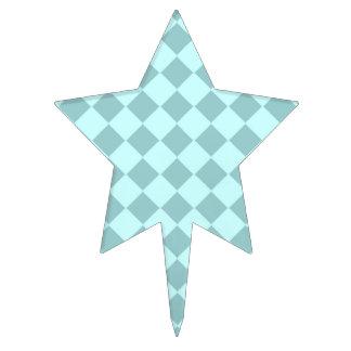 Modelo azul de los cuadrados figuras para tartas