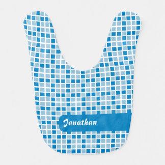 Modelo azul de los cuadrados baberos de bebé