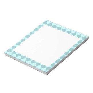 Modelo azul de los cuadrados bloc de papel