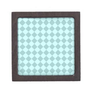 Modelo azul de los cuadrados caja de regalo de calidad