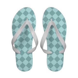 Modelo azul de los cuadrados sandalias