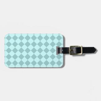 Modelo azul de los cuadrados etiquetas maleta
