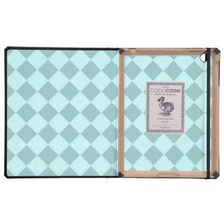Modelo azul de los cuadrados iPad cárcasa