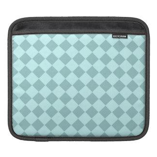 Modelo azul de los cuadrados mangas de iPad