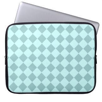 Modelo azul de los cuadrados manga portátil