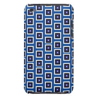 Modelo azul de los cuadrados funda para iPod de barely there