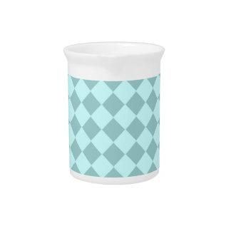 Modelo azul de los cuadrados jarra de beber