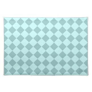Modelo azul de los cuadrados mantel