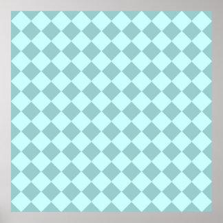 Modelo azul de los cuadrados impresiones