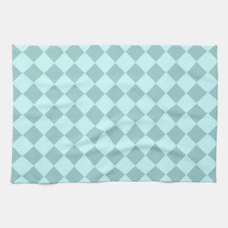 Modelo azul de los cuadrados toallas de cocina