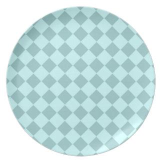 Modelo azul de los cuadrados plato