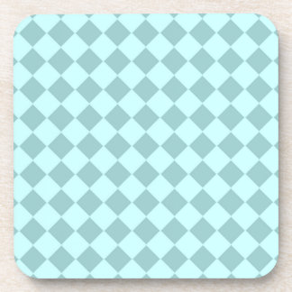 Modelo azul de los cuadrados posavaso