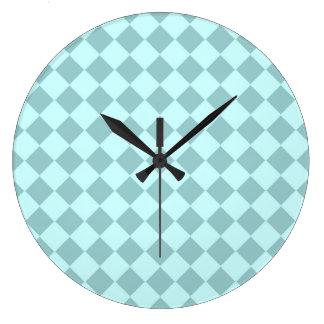 Modelo azul de los cuadrados reloj