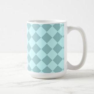 Modelo azul de los cuadrados taza