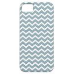 Modelo azul de los galones del zigzag iPhone 5 Case-Mate coberturas