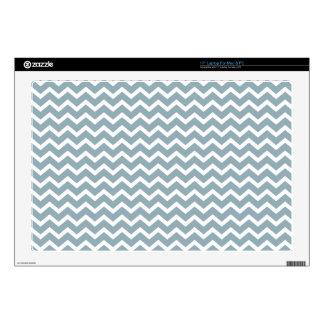 Modelo azul de los galones del zigzag skins para portátiles