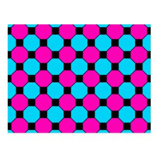 Modelo azul de los hexágonos de las casillas postal