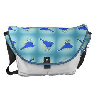 Modelo azul de los pájaros bolsas de mensajeria