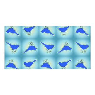 Modelo azul de los pájaros tarjetas personales