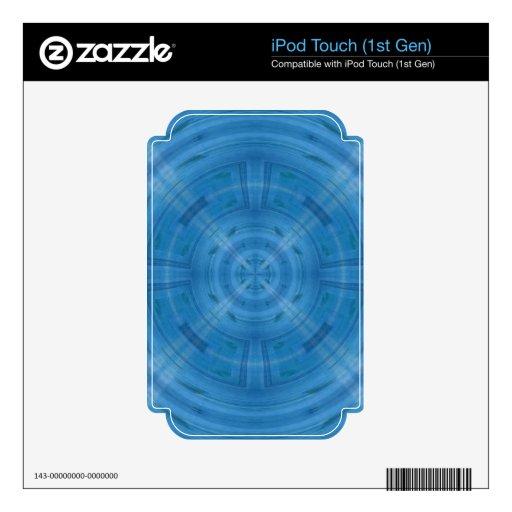 Modelo azul de moda del círculo skins para eliPod touch