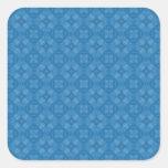 Modelo azul de moda del círculo calcomania cuadradas personalizadas