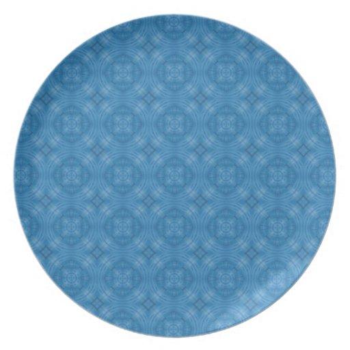 Modelo azul de moda del círculo plato para fiesta