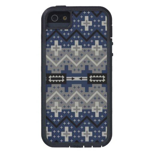 Modelo azul de Navajo iPhone 5 Coberturas