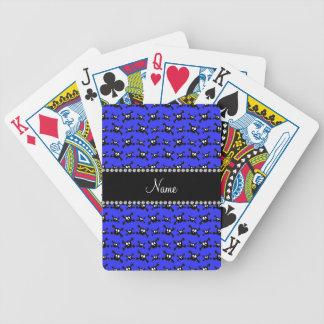 Modelo azul de neón conocido personalizado de los  barajas de cartas