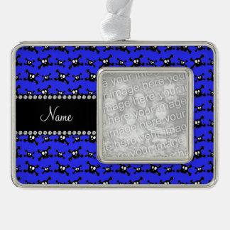 Modelo azul de neón conocido personalizado de los marcos de adorno plateado