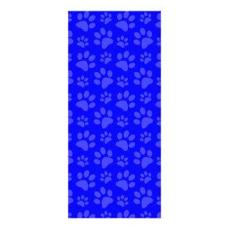 Modelo azul de neón de la impresión de la pata del tarjeta publicitaria a todo color