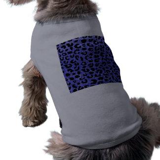 Modelo azul de neón de la impresión del guepardo playera sin mangas para perro