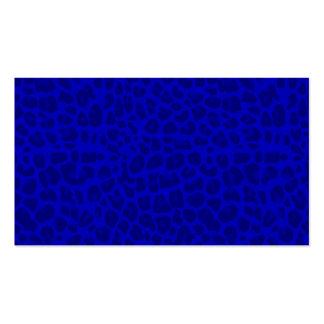 Modelo azul de neón del estampado leopardo tarjeta de visita