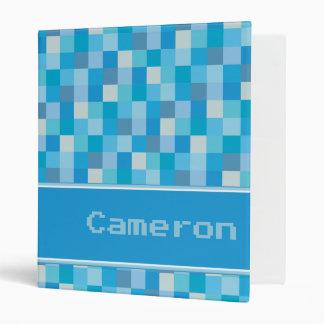 """Modelo azul de Pixelated personalizado Carpeta 1"""""""