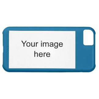 Modelo azul de plantilla en blanco fácil y rápida funda para iPhone 5C