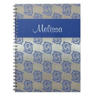 Modelo azul de plata de los pescados de Piscis Cuaderno