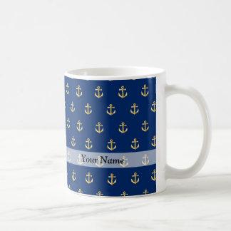 Modelo azul del ancla taza de café