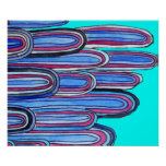 Modelo azul del arte de la aguamarina de las olas