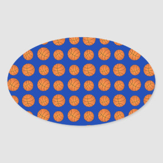 Modelo azul del baloncesto calcomanía de ovaladas