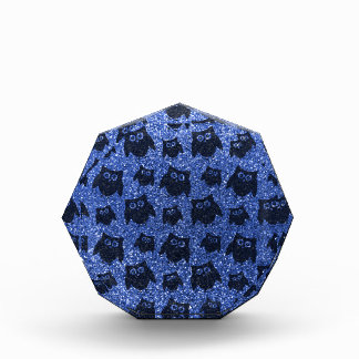 Modelo azul del brillo del búho