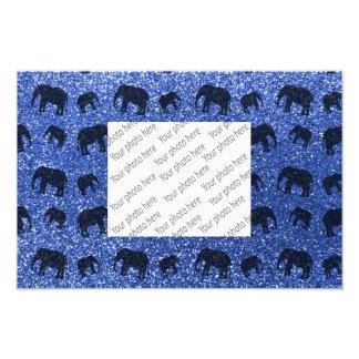 Modelo azul del brillo del elefante fotografía