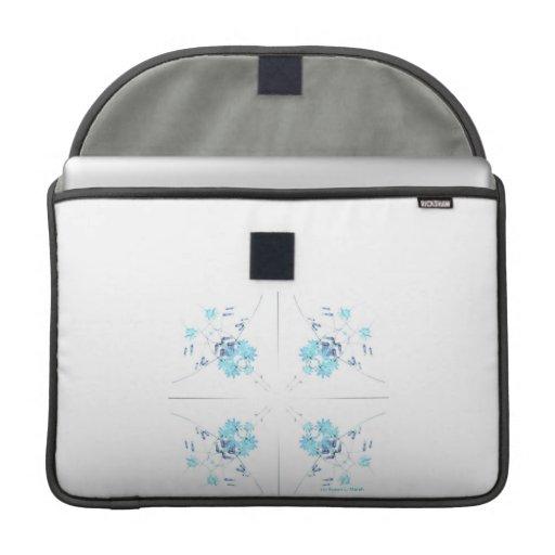 Modelo azul del caleidoscopio de los wildflowers d fundas para macbooks