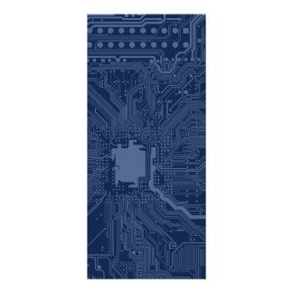 Modelo azul del circuito de la placa madre del diseños de tarjetas publicitarias