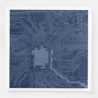 Modelo azul del circuito de la placa madre del servilletas de papel
