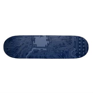 Modelo azul del circuito de la placa madre del skateboard