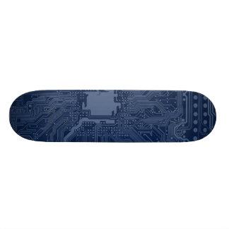 Modelo azul del circuito de la placa madre del skateboards