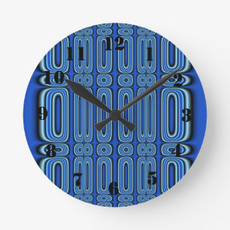 Modelo azul del círculo reloj redondo mediano