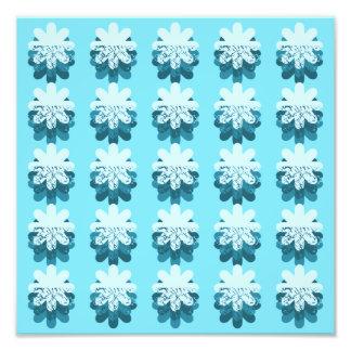 Modelo azul del copo de nieve fotografías