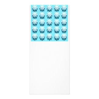 Modelo azul del copo de nieve lonas publicitarias