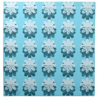 Modelo azul del copo de nieve servilletas de papel