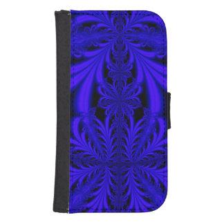 Modelo azul del cordón fundas billetera de galaxy s4